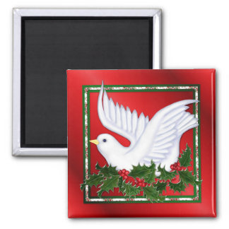 Dove and Holly Magnet