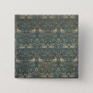 Dove and Rose' fabric design, c.1879 15 Cm Square Badge