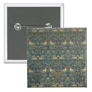 Dove and Rose' fabric design, c.1879 Pin