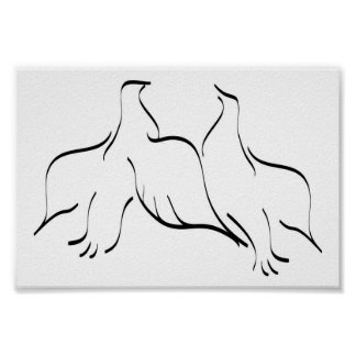 Dove Couple Clipart Poster