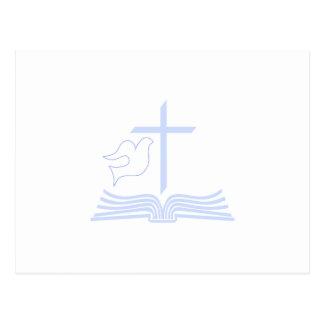 Dove Cross & Bible Postcard