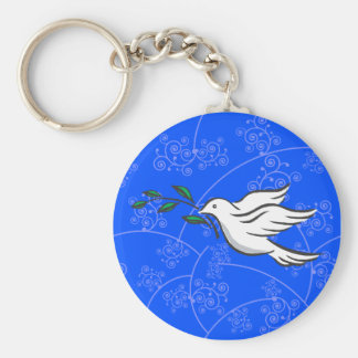Dove designs basic round button key ring