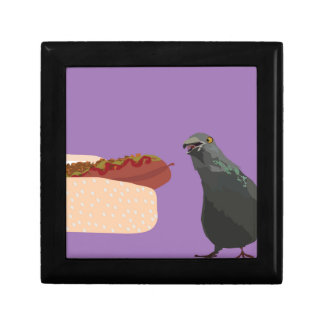 dove eating gift box
