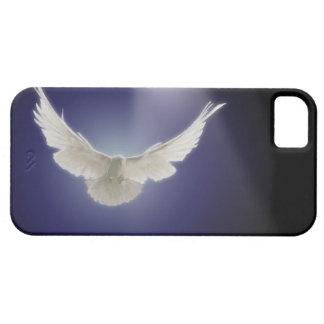 Dove flying through beam of light iPhone 5 case