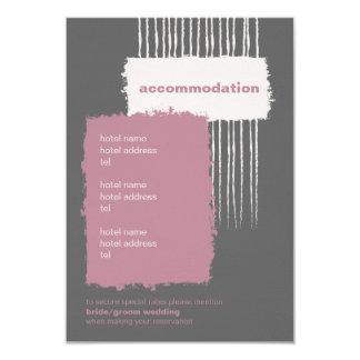 "Dove Gray and Pink Enclosure Card 3.5"" X 5"" Invitation Card"