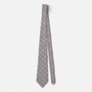 Dove Gray and White Windowpane Tie