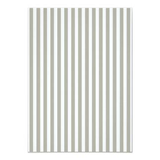 Dove Grey and White Cabana Stripes 11 Cm X 16 Cm Invitation Card