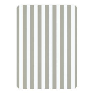 Dove Grey and White Cabana Stripes 13 Cm X 18 Cm Invitation Card