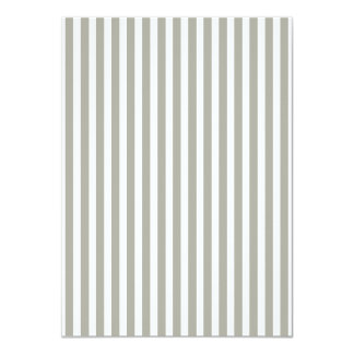 Dove Grey and White Cabana Stripes 4.5x6.25 Paper Invitation Card