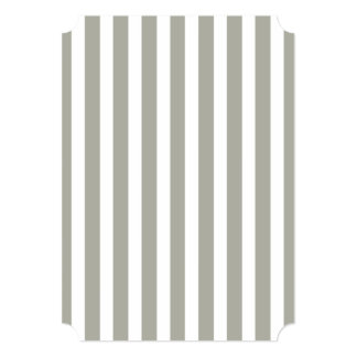 Dove Grey and White Cabana Stripes 5x7 Paper Invitation Card