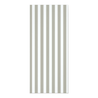 Dove Grey and White Cabana Stripes 4x9.25 Paper Invitation Card