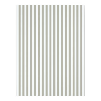 Dove Grey and White Cabana Stripes 6.5x8.75 Paper Invitation Card