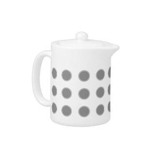 Dove Grey Polka Dots on White