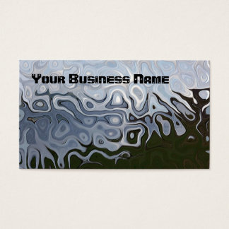 Dove Grey, Slate, Black Abstract Business Card
