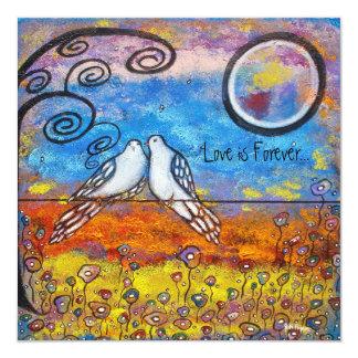 Dove Love Anniversary Invitation Cards