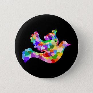 Dove of Hearts 6 Cm Round Badge