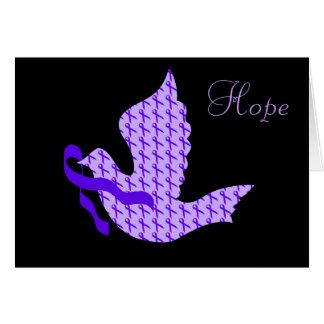 Dove of Hope Purple Ribbon - Alzheimer's Disease Card
