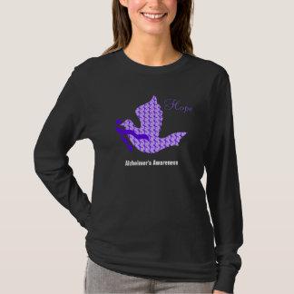 Dove of Hope Purple Ribbon - Alzheimer's Disease T-Shirt