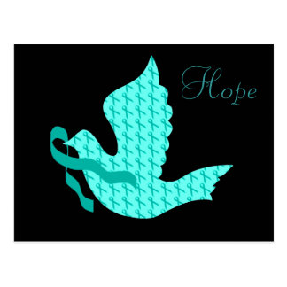 Dove of Hope - Teal Ribbon (Cervical Cancer) Postcard