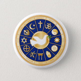 Dove of Peace 6 Cm Round Badge