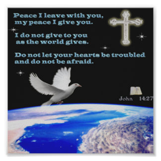 Dove of Peace Christian poster