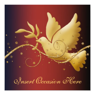 Dove of peace Christmas 13 Cm X 13 Cm Square Invitation Card