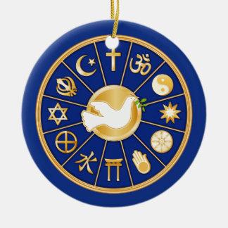 Dove of Peace Round Ceramic Decoration