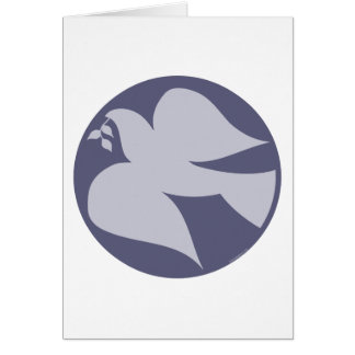 Dove of Peace Sign Greeting Card