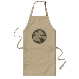 Dove of Peace Sign Long Apron