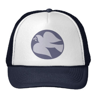 Dove of Peace Sign Mesh Hat