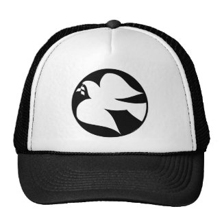 Dove of Peace Sign Mesh Hats