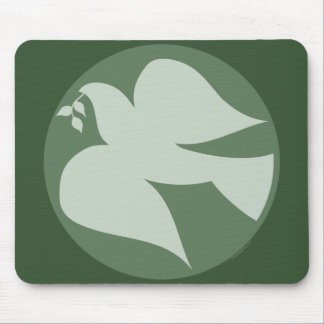 Dove of Peace Sign Mouse Pad