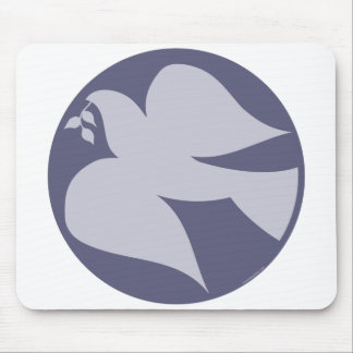 Dove of Peace Sign Mouse Pads