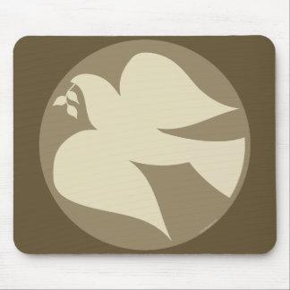 Dove of Peace Sign Mousepad