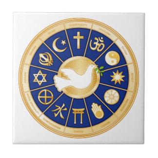Dove of Peace Small Square Tile