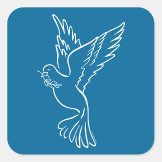 Dove of Peace Square Sticker