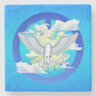 Dove Of Peace Stone Coaster