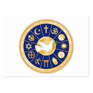 Dove of Peace World Faith Mandala Business Card Template