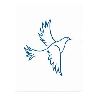 Dove Outline Postcard
