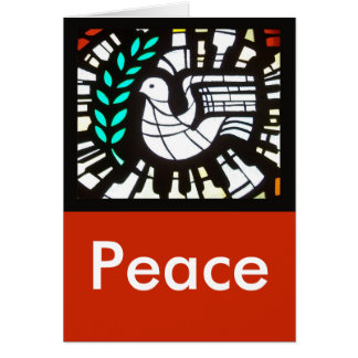 Dove -- Peace and love be multiplied. Card