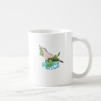 Dove Peace Basic White Mug