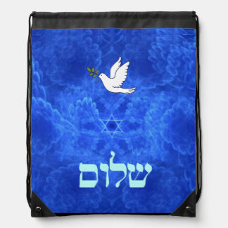 Dove - Shalom Drawstring Bag