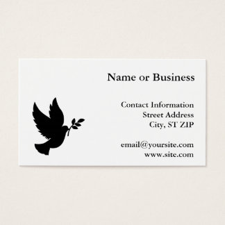 Dove Silhouette Business Card