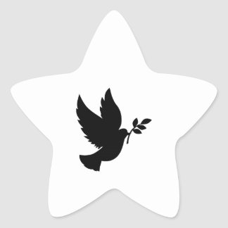 Dove Silhouette Star Sticker