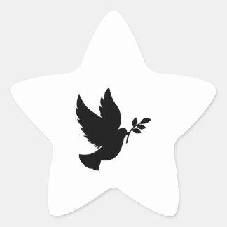 Dove Silhouette Star Sticker