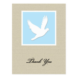 Dove Sympathy Thank You Postcard