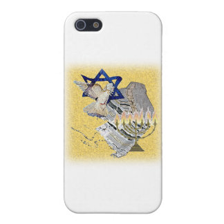 Dove Tallit Menorah with background iPhone 5/5S Covers