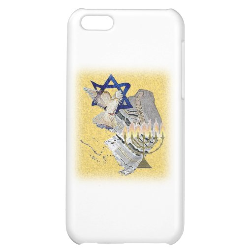 Dove Tallit Menorah with background iPhone 5C Cover