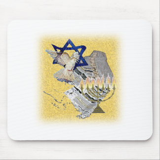 Dove Tallit Menorah with background Mouse Mat