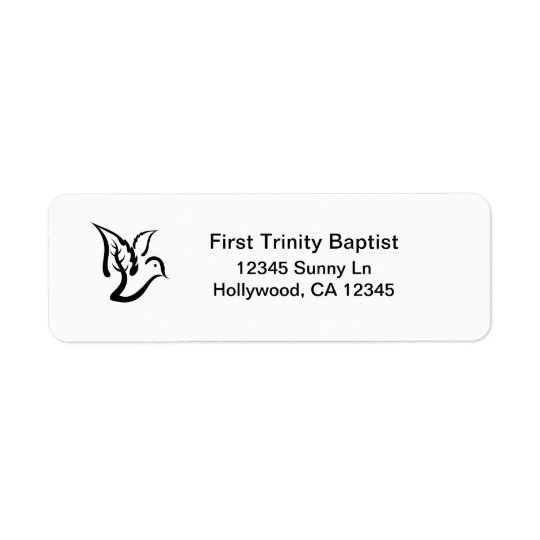Dove with Olive Branch Return Address Label